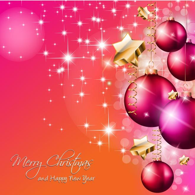 Free Vector Beautiful Christmas Ball With Star Flake Pattern Background  Merry Christmas Greeting Card, Poster