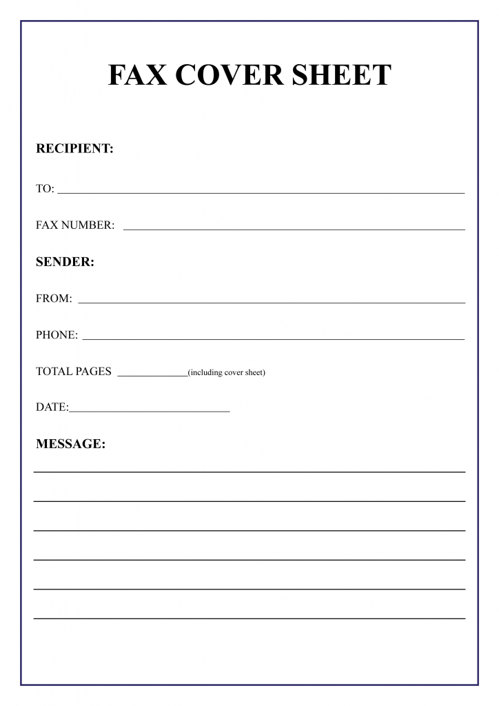 Free Personal Fax Cover Sheet Cover Sheet Template Fax Cover Sheet Cover Letter Template