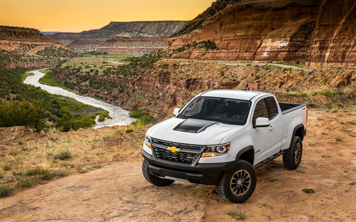 Download Wallpapers Chevrolet Colorado Zr2 2018 Extended Cab
