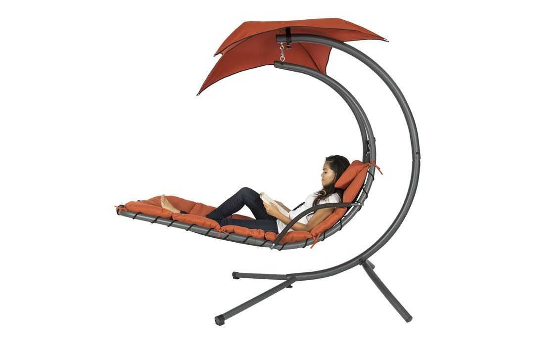 Hanging chaise lounger only normally