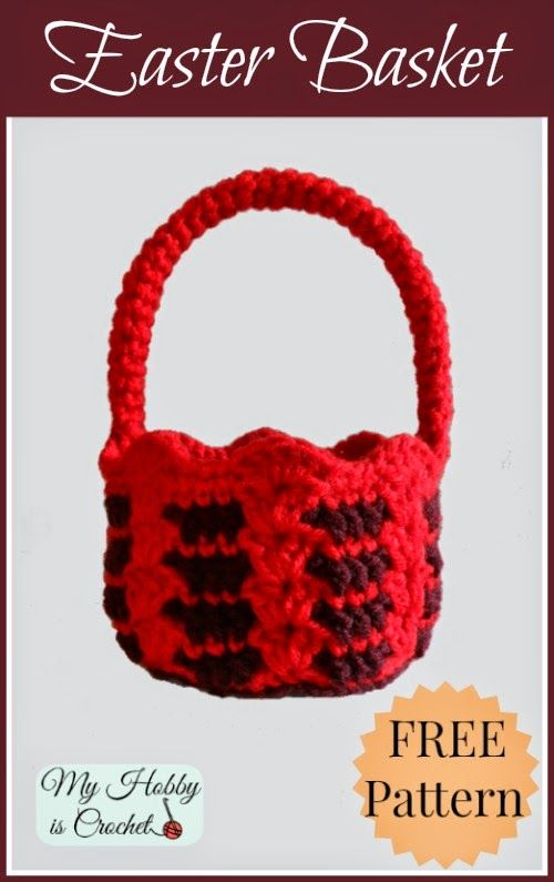 Crochet Baskets - 2 free crochet patterns | Pascuas | Pinterest ...