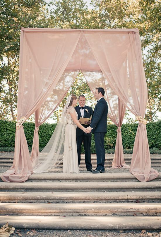 REVEL: Blush Ceremony Altar #ceremonyideas