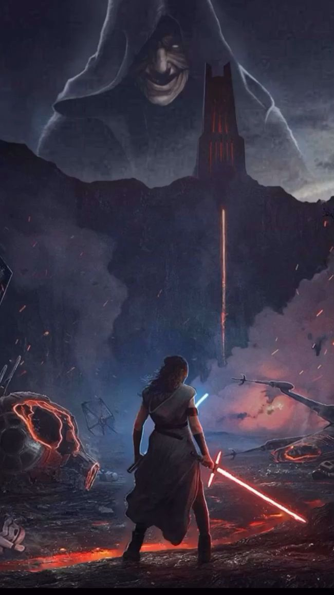 Rey wielding 2 Sabers. The Rise of Sidious (Animated Fan Art)