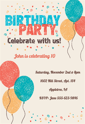 Celebrate With Us Birthday Invitation Template Free Greetings Island Free Birthday Invitation Templates Birthday Party Invitations Printable Printable Birthday Invitations