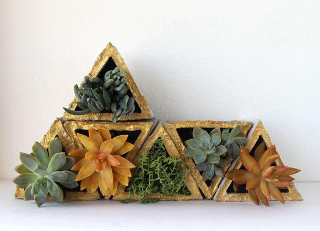 Diy Make Concrete Planters A Piece Of Rainbow Plant Decor Indoor Concrete Planters Succulent Planter Diy