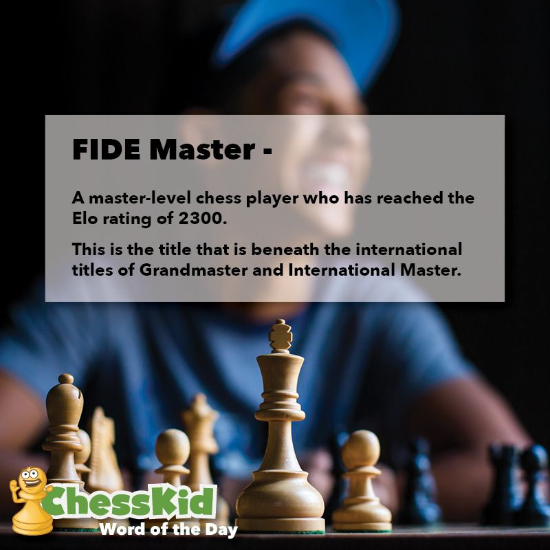 FIDE Master Word of the Day WordOfTheDay