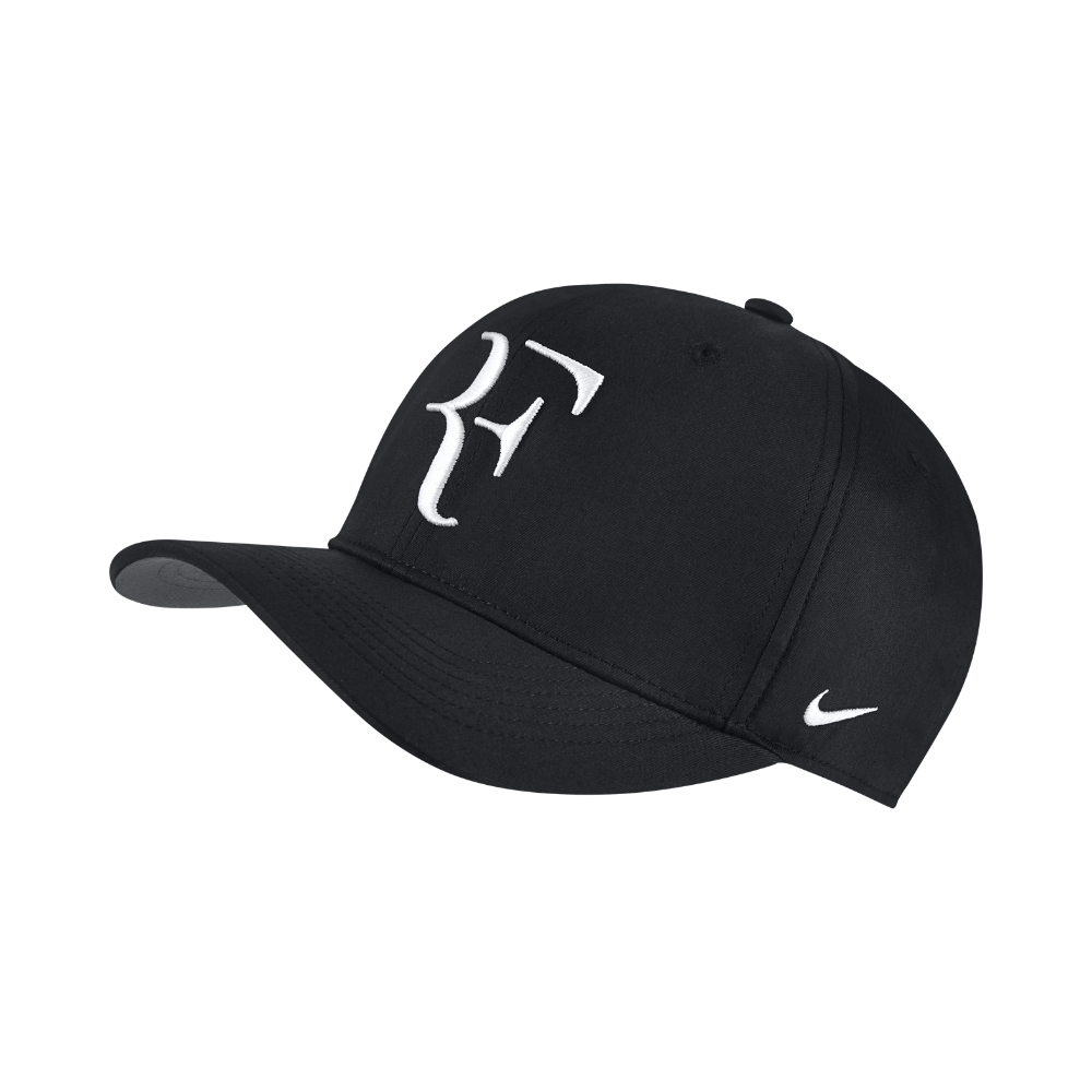 9ef7b21c9 Nike NikeCourt AeroBill Roger Federer Adjustable Tennis Hat (Black ...