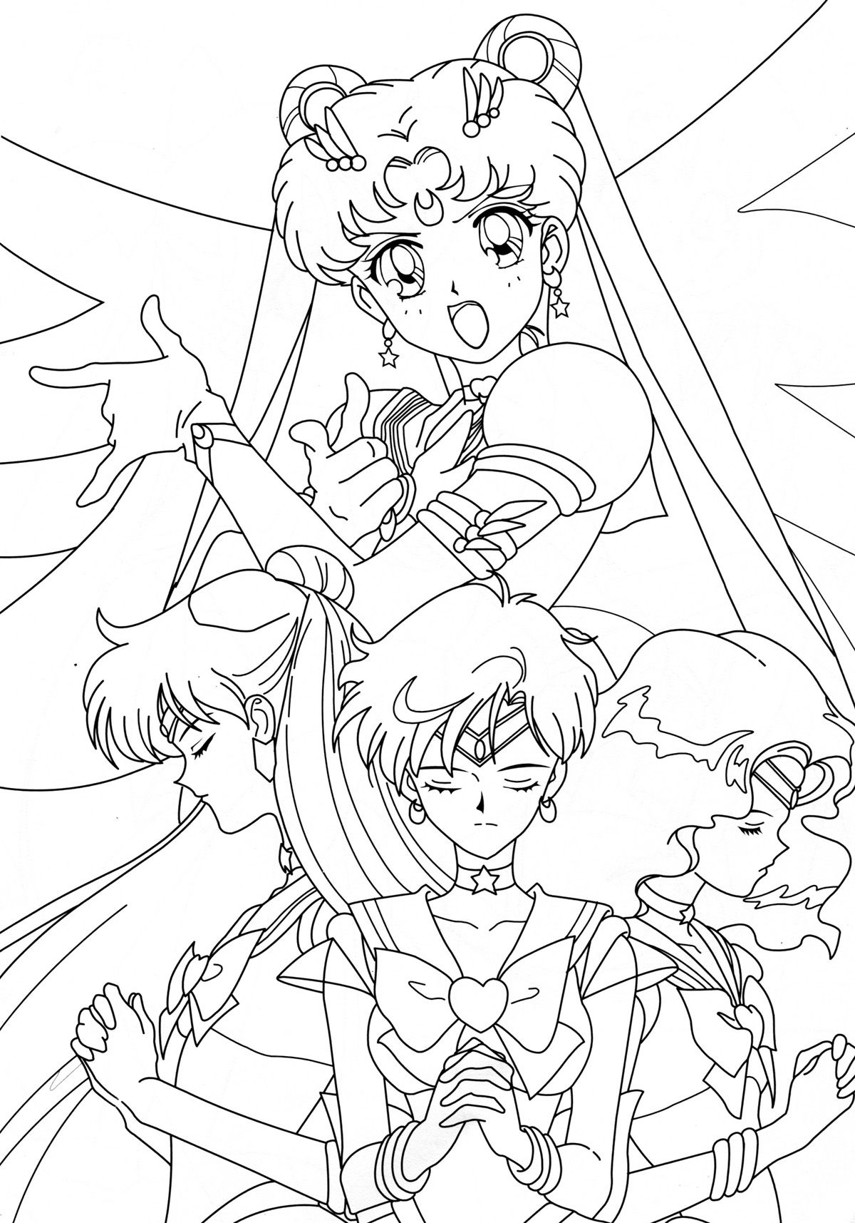 Group018 Jpg 1200 1715 Sailor Moon Coloring Pages Sailor Moon Wallpaper Coloring Books