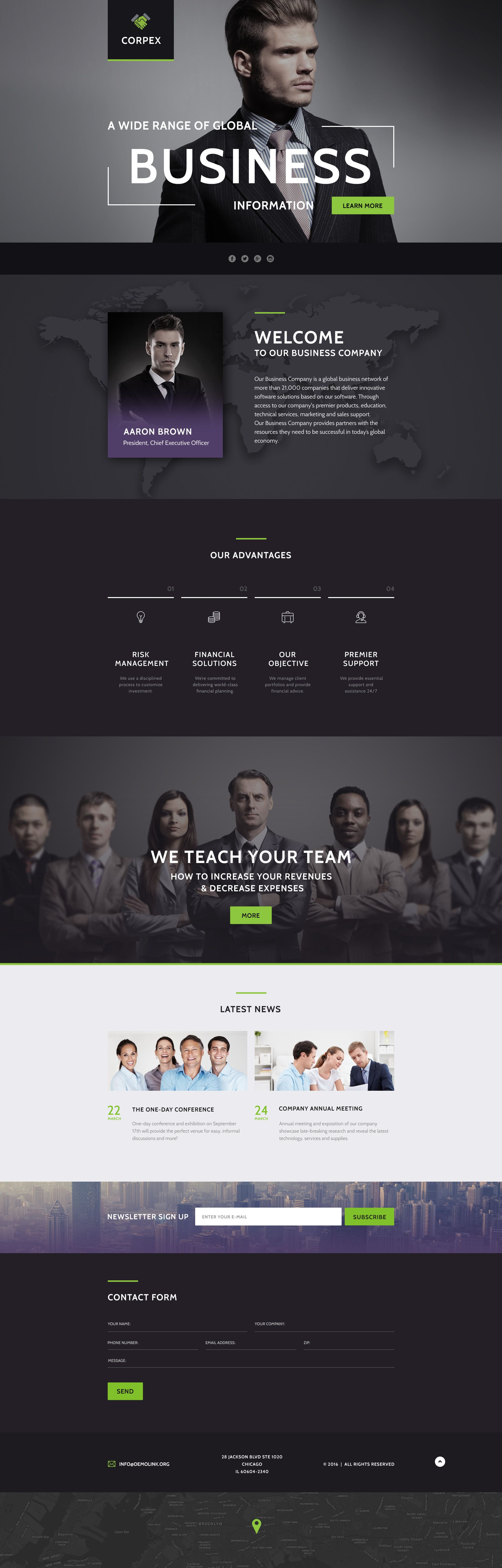 Business Responsive Landing Page Template   Business, Website and ...