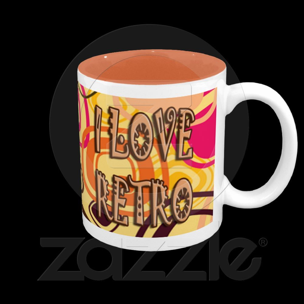 I Love Retro Coffee Mug Zazzle Com Mugs Coffee Mugs Retro