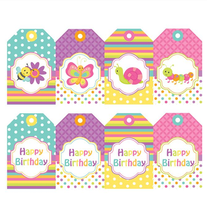 SPRING BUGS PRINTABLE HANGING TAGS Birthday Party #spring