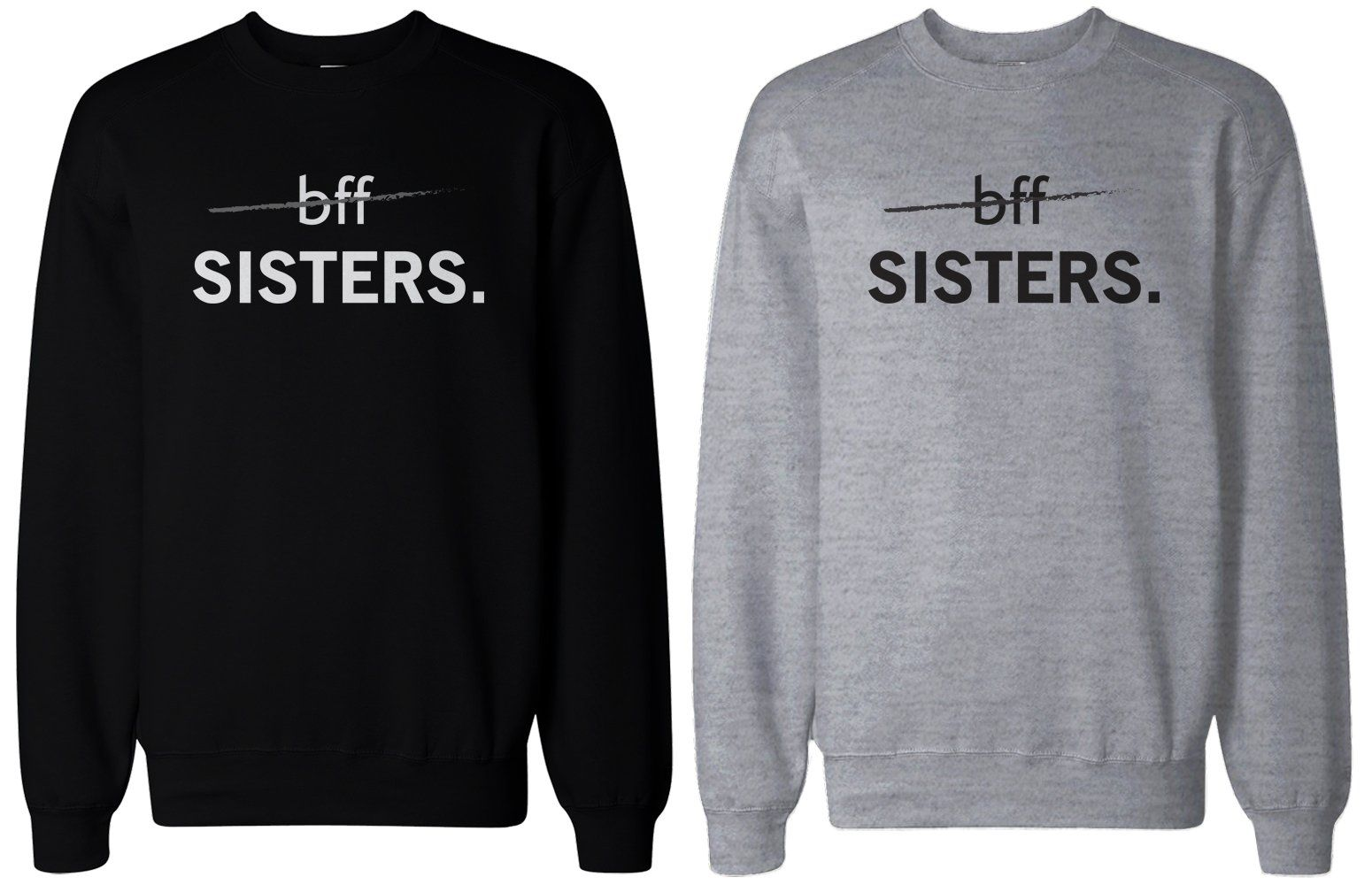 052f7be855f8b Matching BFF Black and Grey Sweatshirts for Best Friends - BFF Sisters #bff  #bestfriends #sisters #bestfriend