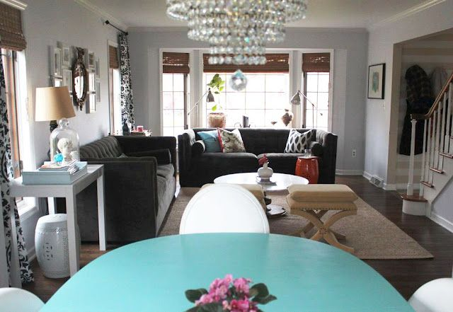nice living room. love the velvet sofas and x stools | Living Room ...