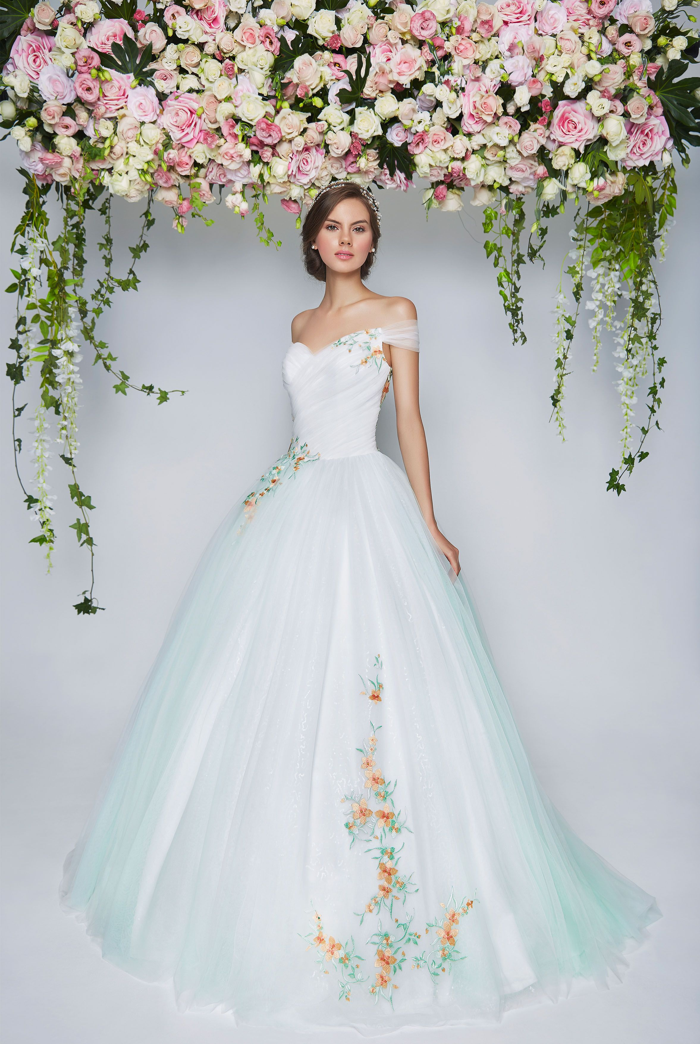 wedding gown rental Pretty in Floral Floral Wedding Dresses Bridal Boutique Singapore Wedding Gown