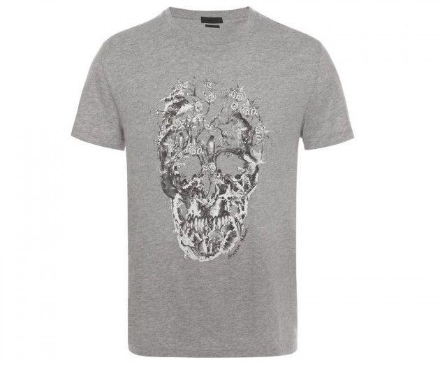 A. McQueen gray T-shirt