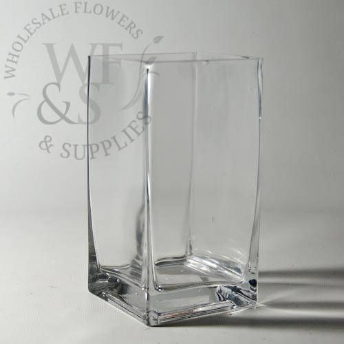 6x3 Square Glass Vase 6 Tall X 3 Wide Clear Glass Square Vase