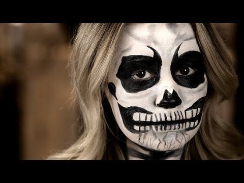skeleton makeup tutorial with 3 products  halloween
