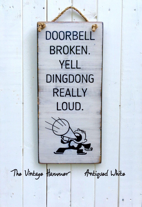 Door Sign Porch Sign Deck Sign Welcome Sign Wood Sign Sayings Wall Art Doorbell Door Sign