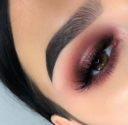 36 Ideas Makeup Ideas For Brown Eyes Burgundy  eyebrowmakeup