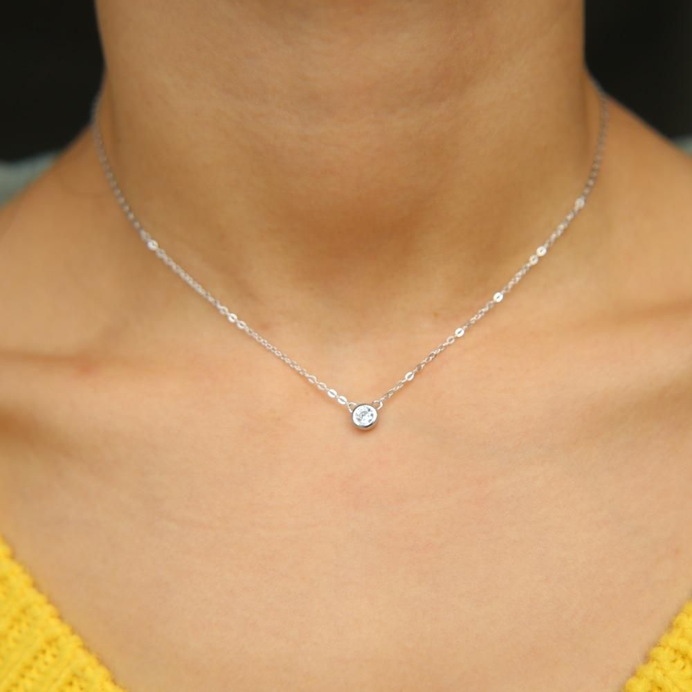 100 925 Sterling Silver Chic Classic Simple Jewelry Chain Delicate Minimal Bezel Cz Lovely Minimalist Dainty Popular Jewelry Trends Silver Chic Simple Jewelry
