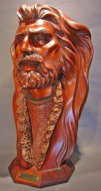 Bill Churchill Westward Visions Mahogany Wood Sculpture