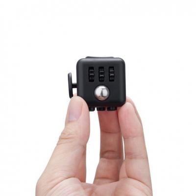 Image Of Promotional Fidget Box Printed Cube Black