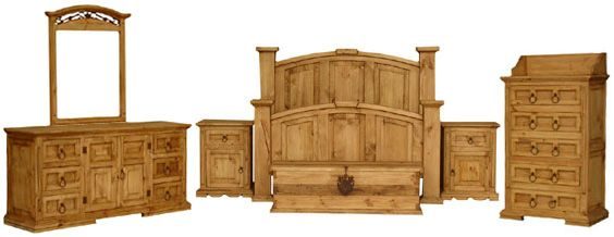 I have a few rustic pine furniture pieces. I want this bedroom set ...