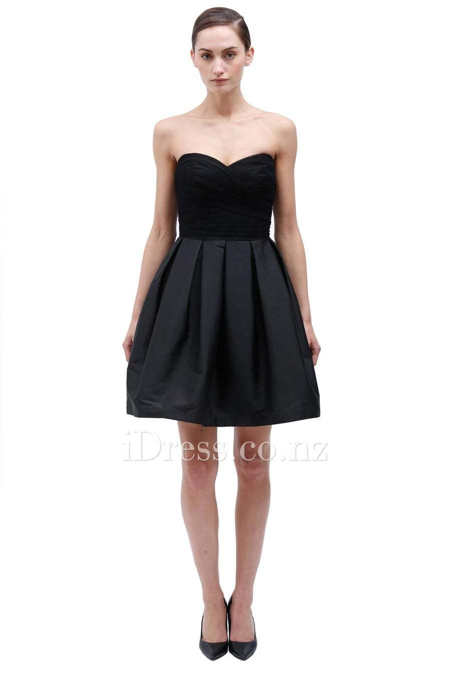Black Satin A Line Skirt | Jill Dress