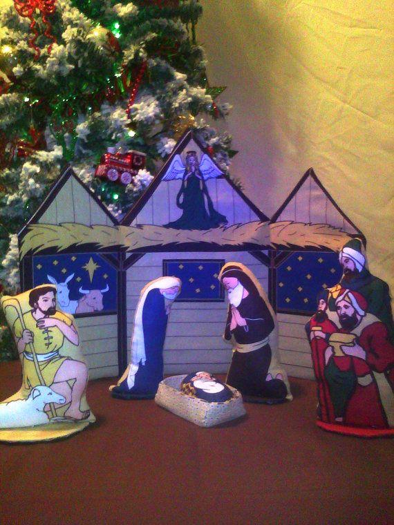 THE NATIVITY  Beautiful Christmas Set by RoseeRenees on Etsy, $27.50