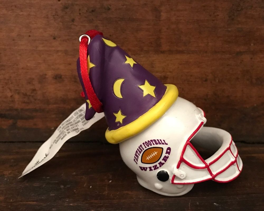 Football player ornament - Hallmark Fantasy Football Player Wizard Helmet Christmas Ornament Super Bowl Ebay