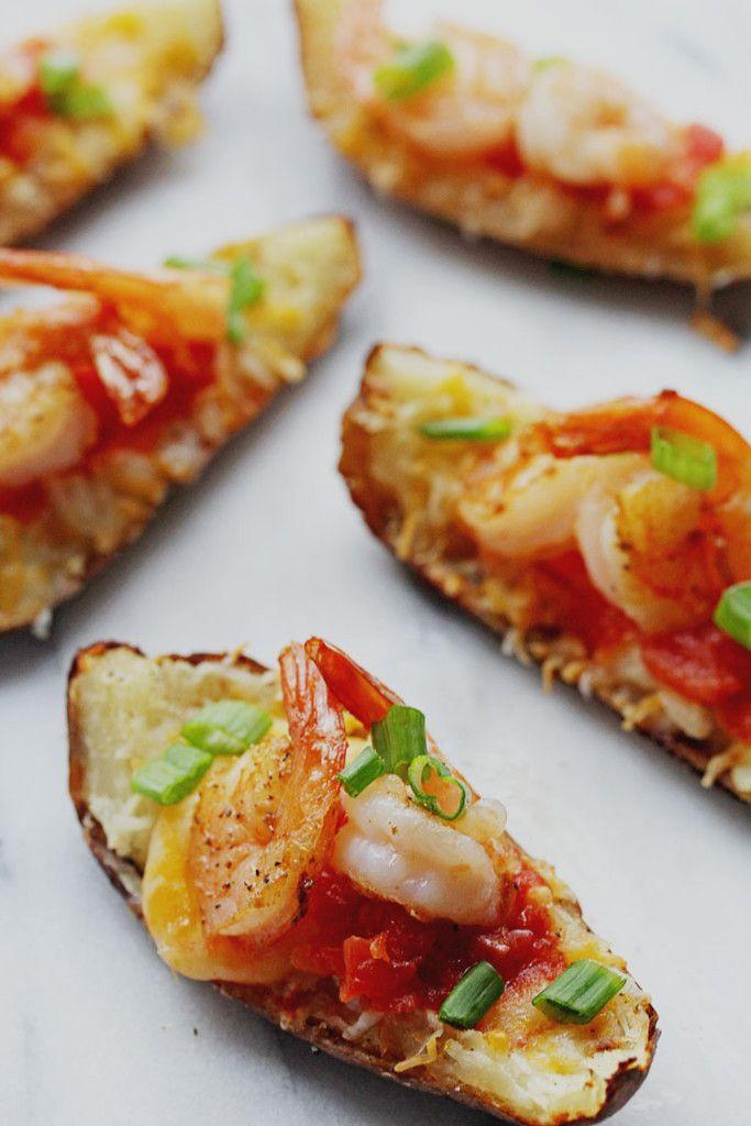 Shrimp Nacho Potato Skins