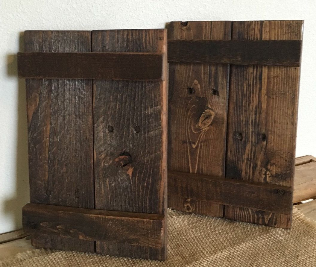 Rustic Wood Shutters Decorative Shutters Farmhouse Shutters Reclaimed Wood  Shutters Interior Shutters