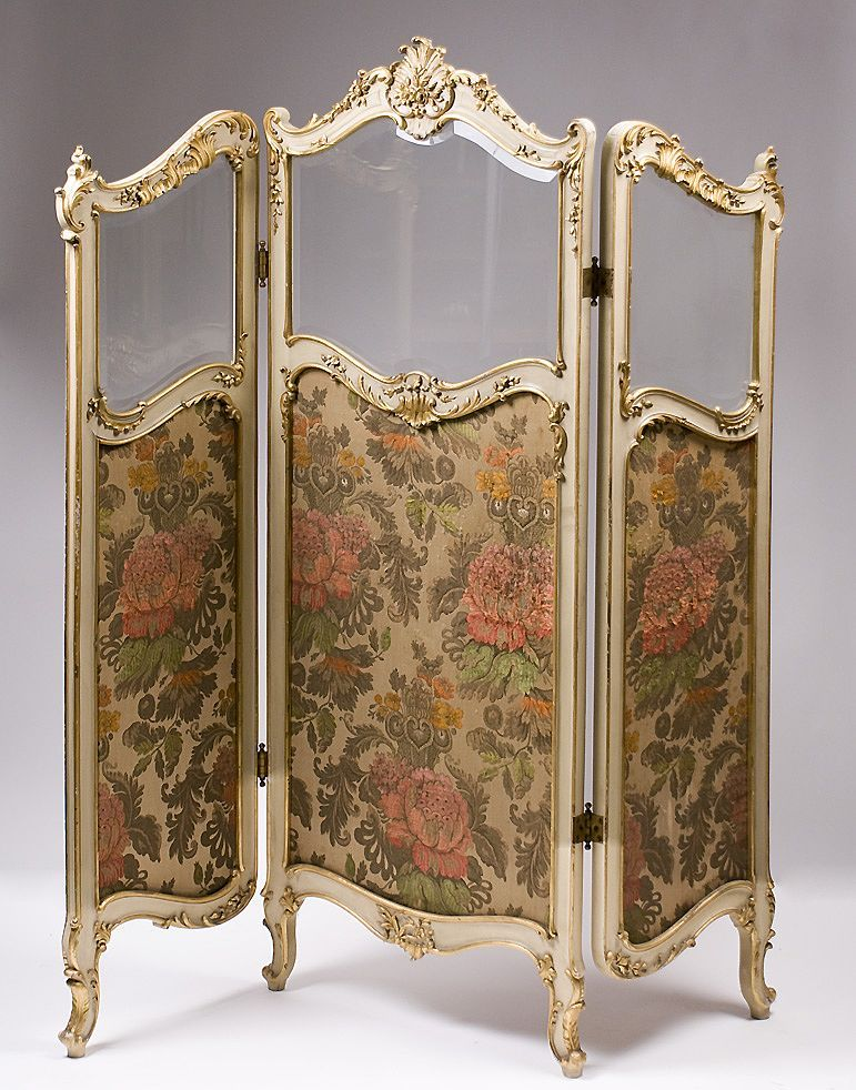 19th C French Rococo Style Three Panel Childs Size Dressing