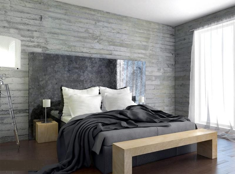 19 Marvelous Bedrooms With Concrete Wall That Are Worth Seeing Concrete Bedroom Bedroom Design Bold Bedroom