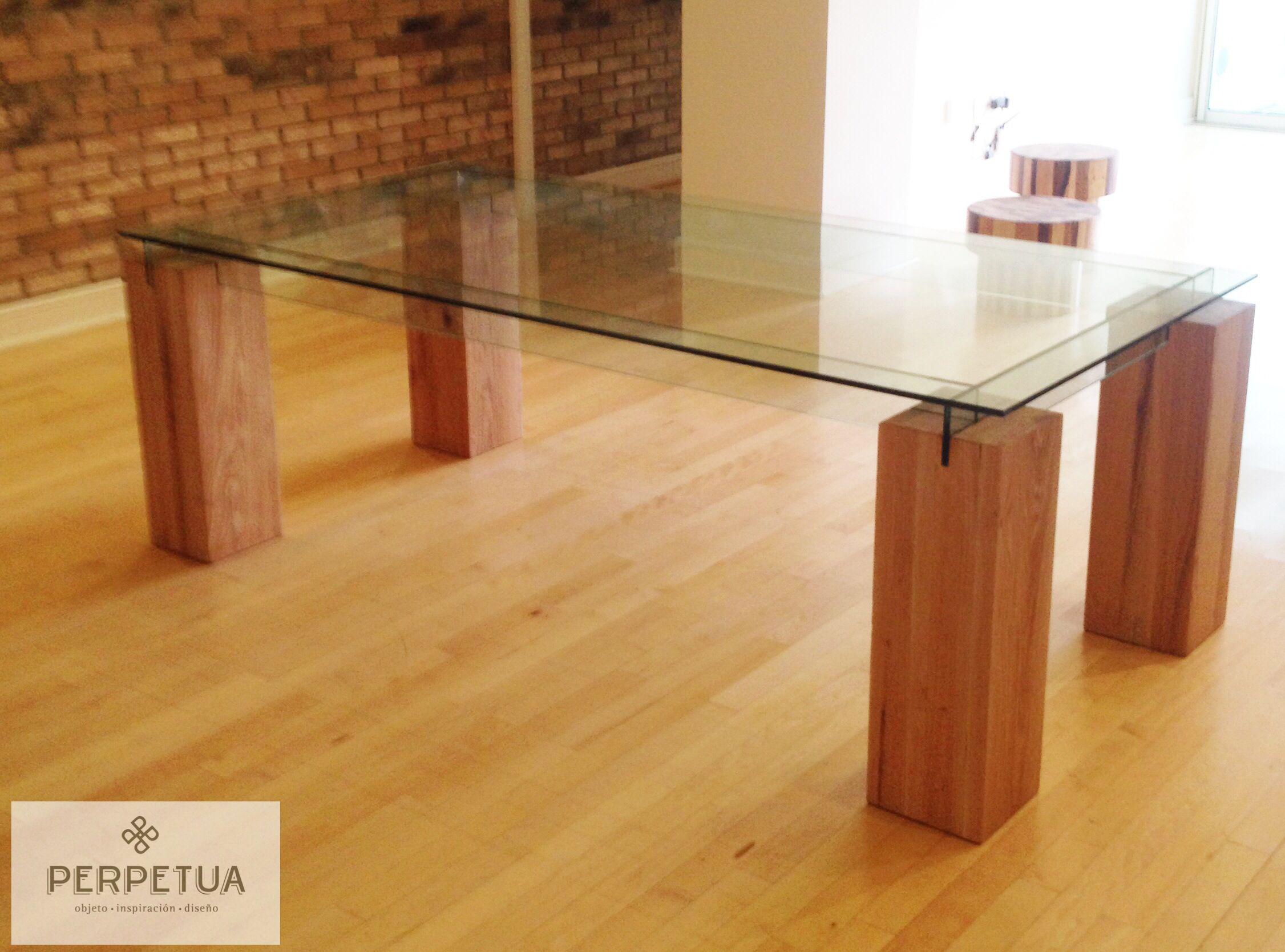 Perpetua muebles #perpetua #muebles #madera #mesa #comedor #vidrio ...
