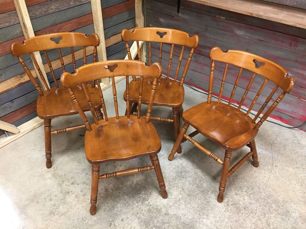 tell city vtg hard rock maple chairs 8018 set of 4 48 andover