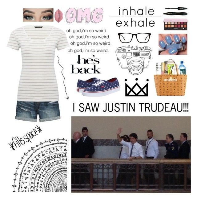 """I saw Justin Trudeau"" by crysty17 ❤ liked on Polyvore featuring Canvas by Lands' End, M&Co, Vans, Muse, Lime Crime, Anastasia Beverly Hills and Lancôme"