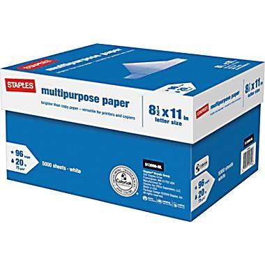 Tru Red Multipurpose Paper 8 1 2 X 11 Case At Staples Paper Laser Paper Itunes Gift Cards