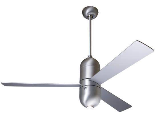 Cirrus Ceiling Fan Brushed Aluminum 75w Halogen Light Option Ceiling Fan Modern Ceiling Fan Modern Fan