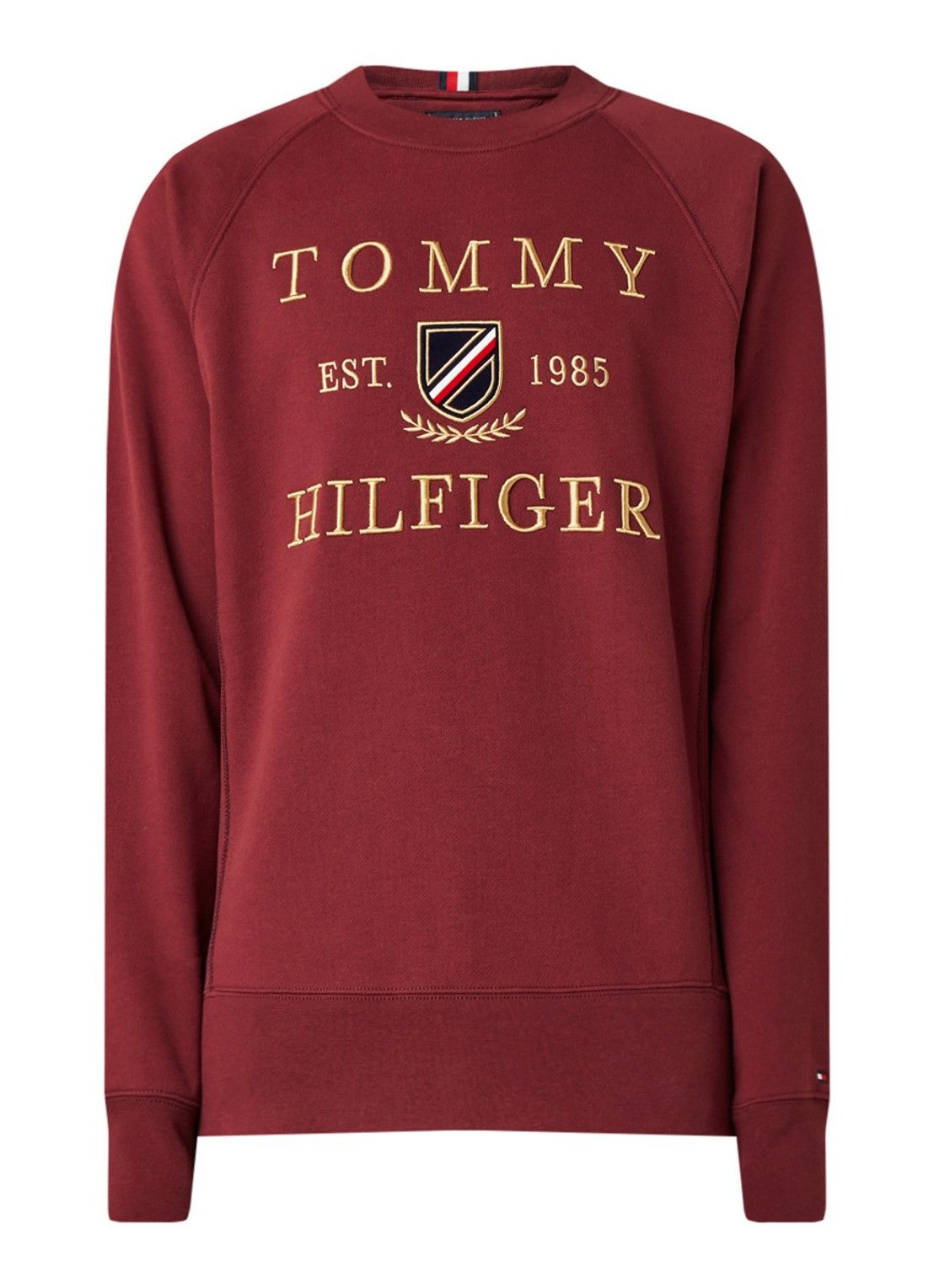 Tommy Hilfiger Icon Sweater Met Logoborduring De Bijenkorf Tommy Hilfiger Sweatshirt Polo T Shirts Tommy Hilfiger