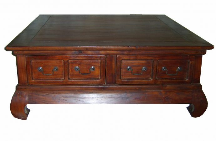 Coffee Table Vintage Mahogany Large Square Gorgeous Antique
