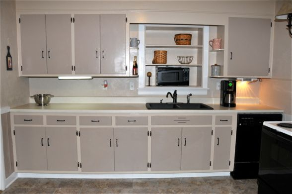 Beau Budget Makeover, The Cabinets Are Knotty Pine And Were Very Dated In This  1960s Kitchen. We Cant Afford To Spend Much Money In Remodeling, .