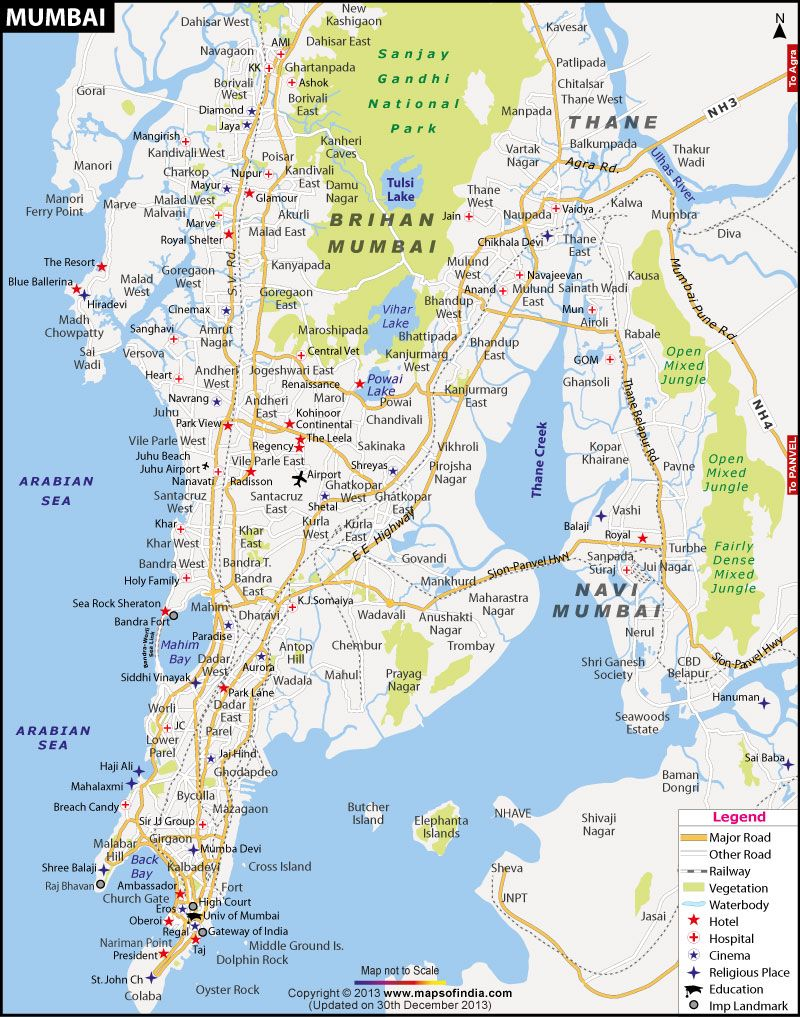 Road Map Of Mumbai mumbai street map   Google Search | City | Mumbai, India map, Map