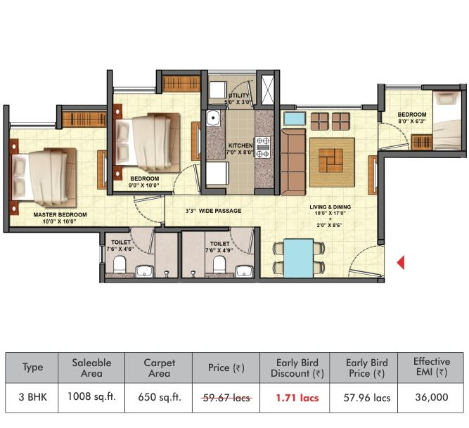 3 Bhk Floor Plan Lodha Palava Golden Tomorrow Dombivali Mumbai Floor Plans How To Plan Flooring
