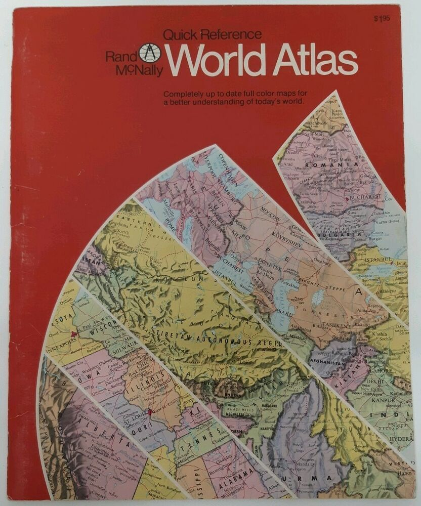 Rand McNally Quick Reference World Atlas Vtg 80s Full Color
