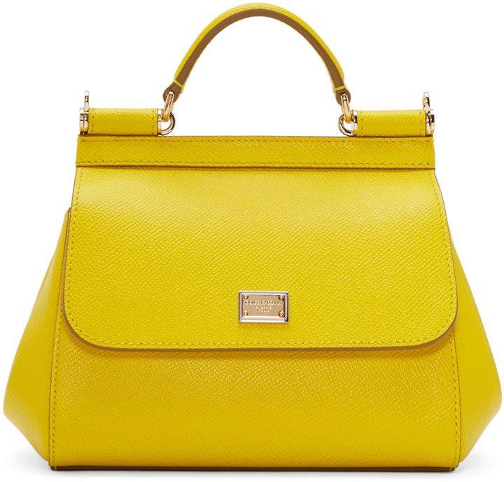 e97dfe838f40 Dolce   Gabbana Yellow Mini Miss Sicily Bag