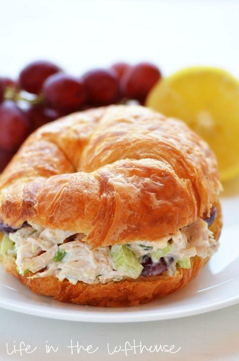 Chicken Salad Croissant Sandwiches | Recipe | Croissant, Salad and ... | Best image of amazing chicken salad sandwich recipe collection