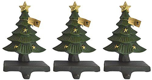 lulu decor cast iron decorative christmas tree stocking holder solid beautiful set of 3 perfect for - Holiday Value Decorative Christmas Set