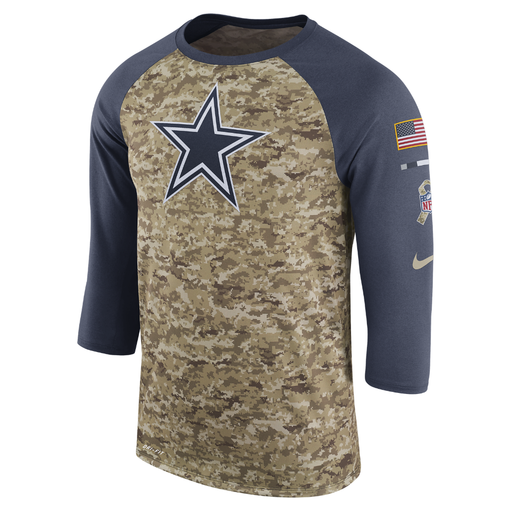 b0117216e23 Nike Dry Legend STS Raglan (NFL Cowboys) Men's T-Shirt Size ...