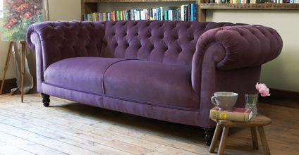 Purple Chesterfield Sofa And Pretty, Colourful Cushions. | House: Interior  | Pinterest | Chesterfield Sofa, Chesterfield And Living Rooms